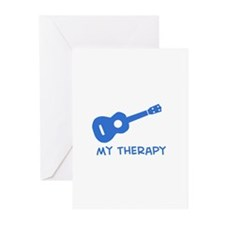Ukelele my therapy Greeting Cards (Pk of 10)