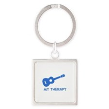 Ukelele my therapy Square Keychain