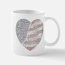 Jeweled American Heart Mug