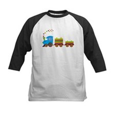 Colorful Toy Train Baseball Jersey