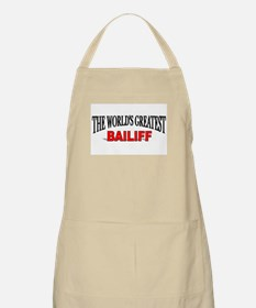 """The World's Greatest Bailiff"" BBQ Apron"