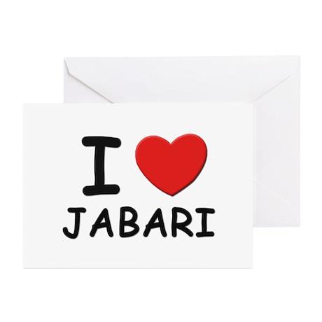 I love Jabari Greeting Cards (Pk of 10)