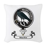 Badge - MacKie Woven Throw Pillow