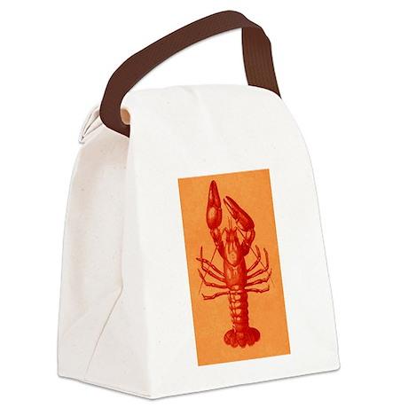 Red Crawfish Logo Canvas Lunch Bag