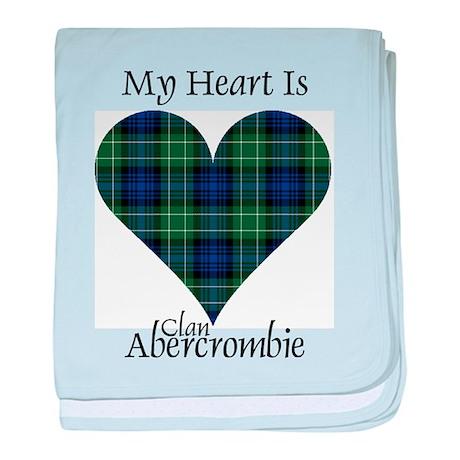 Heart - Abercrombie baby blanket