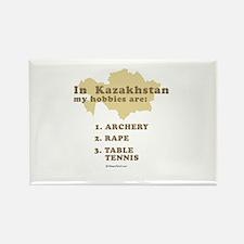 Kazakhstan hobbies Rectangle Magnet