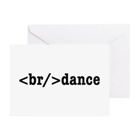 breakdance HTML Greeting Card