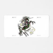 Cooper Unicorn Aluminum License Plate