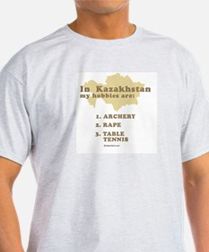 Kazakhstan hobbies Ash Grey T-Shirt