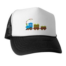 Colorful Toy Train Trucker Hat