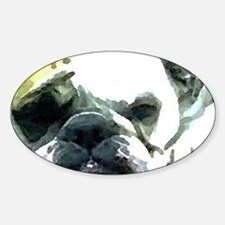 Resting Bulldog Oval Decal