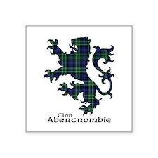 "Lion - Abercrombie Square Sticker 3"" x 3"""