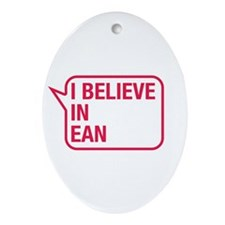 I Believe In Ean Ornament (Oval)
