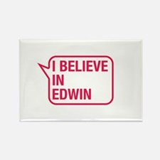 I Believe In Edwin Rectangle Magnet