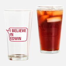 I Believe In Edwin Drinking Glass