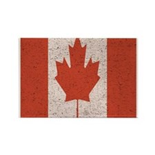 Claystone Canadian Flag Rectangle Magnet (100 pack