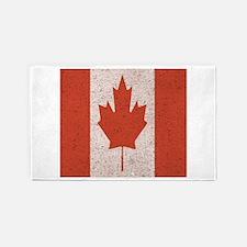Claystone Canadian Flag 3'x5' Area Rug