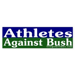 Athletes Against Bush Bumper Bumper Sticker