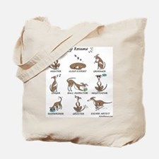 Iggy Resume / Italian Greyhound Resume Tote Bag