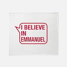 I Believe In Emmanuel Throw Blanket