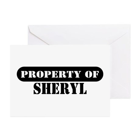 Property of Sheryl Greeting Cards (Pk of 10)