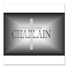 "Unique Chaplain Square Car Magnet 3"" x 3"""