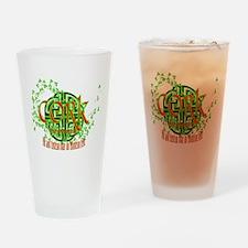Cork Shamrock Drinking Glass
