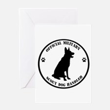 Official Military Scout Dog Handler Greeting Card