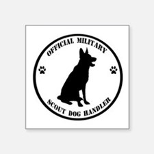 Official Military Scout Dog Handler Sticker