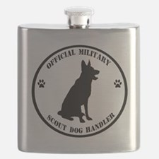 Official Military Scout Dog Handler Flask