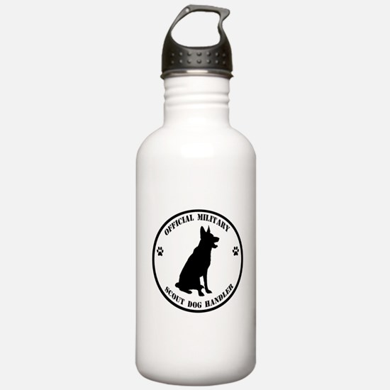 Official Military Scout Dog Handler Water Bottle