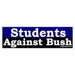 Students Against Bush Bumper Bumper Sticker