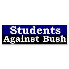 Students Against Bush Bumper Bumper Sticker