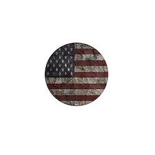 Cave Wall American Flag Mini Button