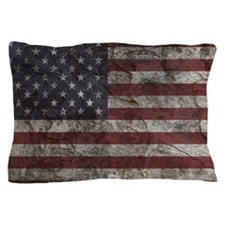 Cave Wall American Flag Pillow Case