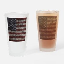 Cave Wall American Flag Drinking Glass