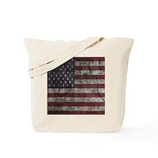 Cave Wall American Flag Tote Bag