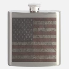 Cave Wall American Flag Flask