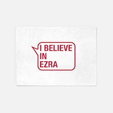 I Believe In Ezra 5'x7'Area Rug