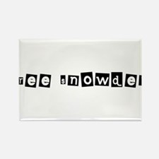 Free Snowden 1 Rectangle Magnet