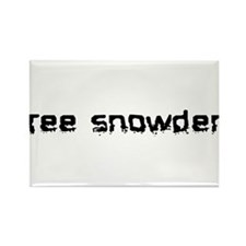 Free Snowden 2 Rectangle Magnet