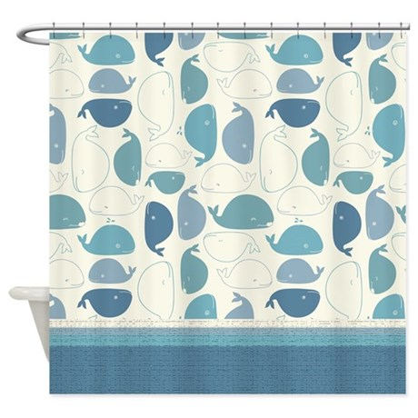 Whale Tale Shower Curtain