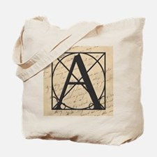 OLD and NEW Together Letter A Tote Bag