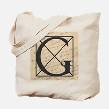OLD and NEW Together Monogram Letter G Tote Bag