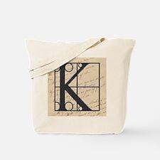 OLD and NEW Together Monogram Letter K Tote Bag