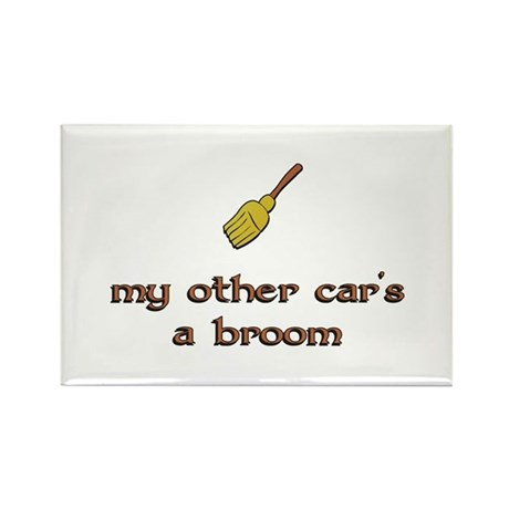 my other car's a broom Rectangle Magnet