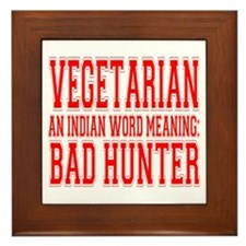 Vegetarian Framed Tile