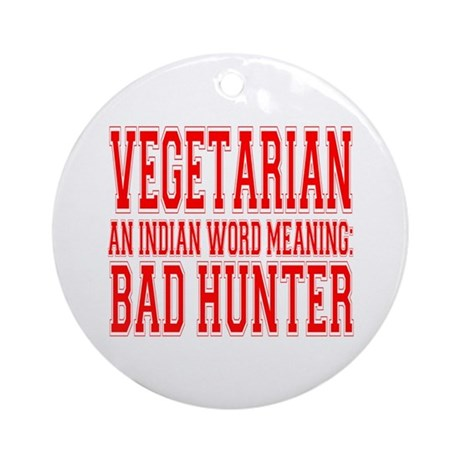 Vegetarian Ornament (Round)