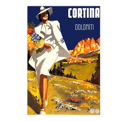 vintage cortina italy travel postcards package of by