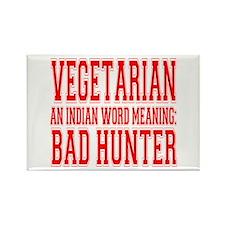 Vegetarian Rectangle Magnet (10 pack)